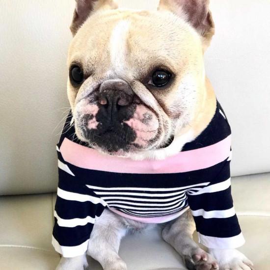 Csajos csíkos pulóver