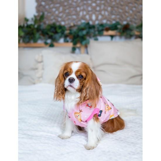 Bulldog Karácsonyt kabát - rózsaszín