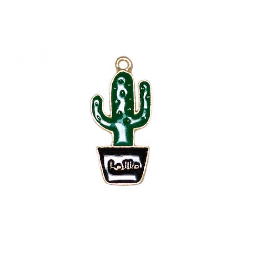 Hello cactus charm