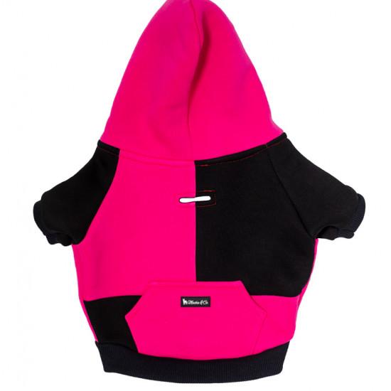 Pink és fekete kapucnis felső